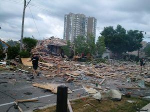 House inexplicably explodes, killing woman, injuring nine