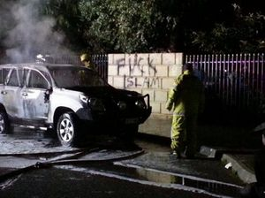 Car set on fire outside Perth mosque
