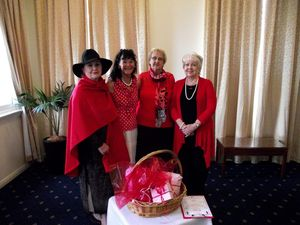 Morning tea fundraiser encourages guests to think red