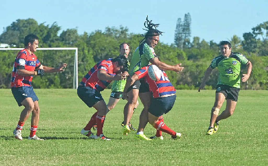 TIGHT: Whitsunday Raiders took on the Mackay City.
