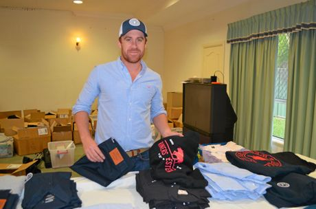 LEFT: Ringers Western co-founder and station manager Andrew Macdonald is living on the Gold Coast  to post off some of the clothing to customers.