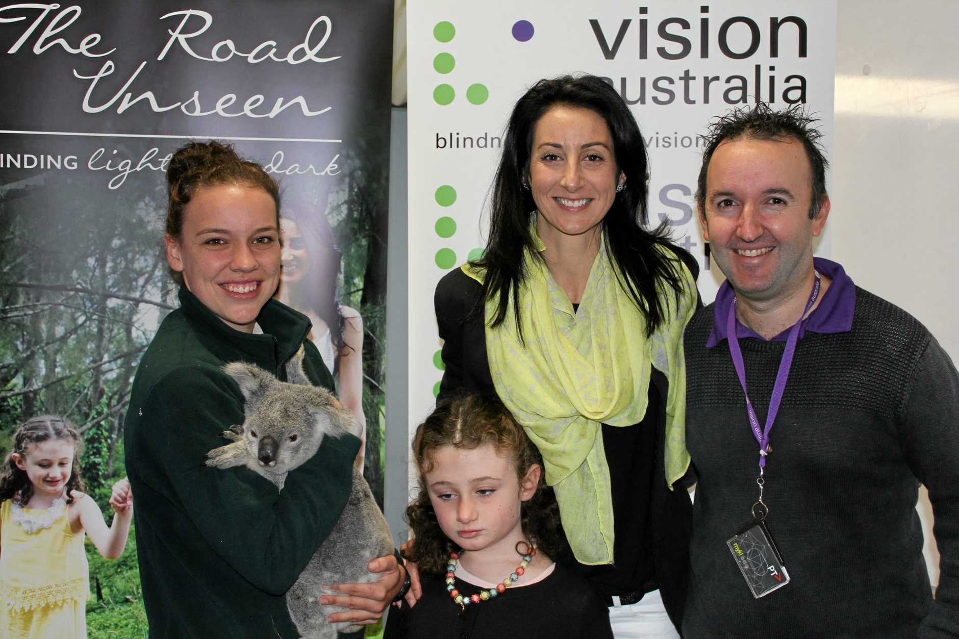 ZOO VISIT: Vision Australia and Australia Zoo organised a special day out for Mackenzie and Tanya.