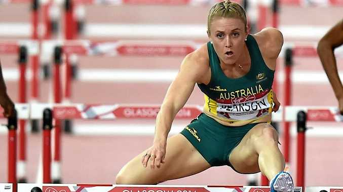 RULED OUT: Australian hurdler Sally Pearson in action.
