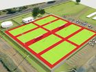 SNEAK PEEK: This artist's impression is the first look for Maranoa locals at the project which will build eight new netball courts at Bassett Park in Roma.