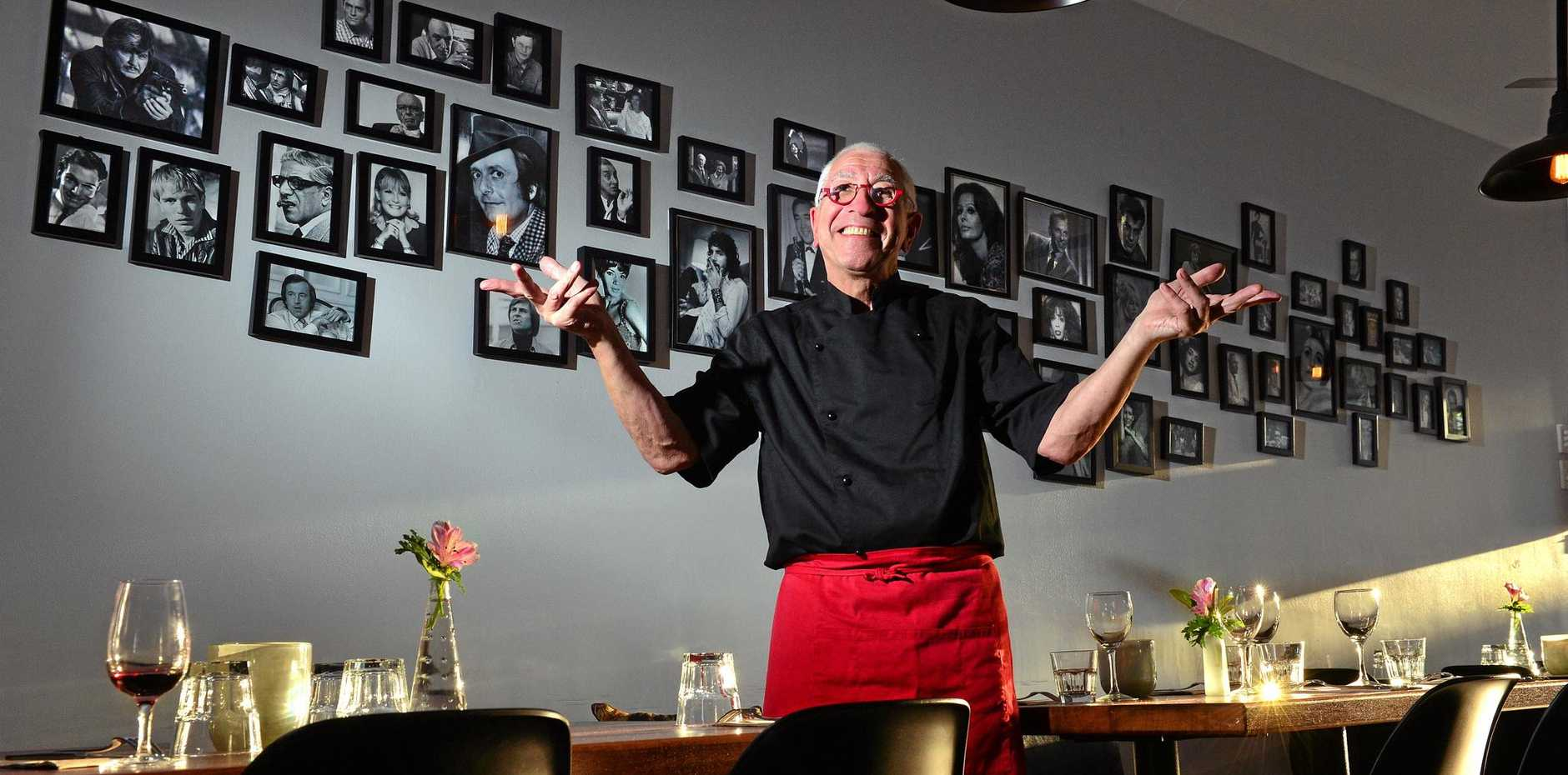 CELEBRITY CHEF: Chef Stephen Pulman, of Bin 106 in Mooloolaba, has cooked for celebrities from Ronnie Corbett, John Wayne and Dame Joan Sutherland to Bette Midler and Neil Diamond.