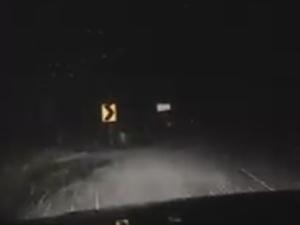 Dash Cam of Slip in Snow