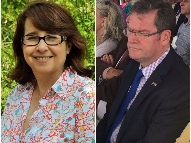 Bronwyn Herbertson hit out at LNP candidate John McVeigh
