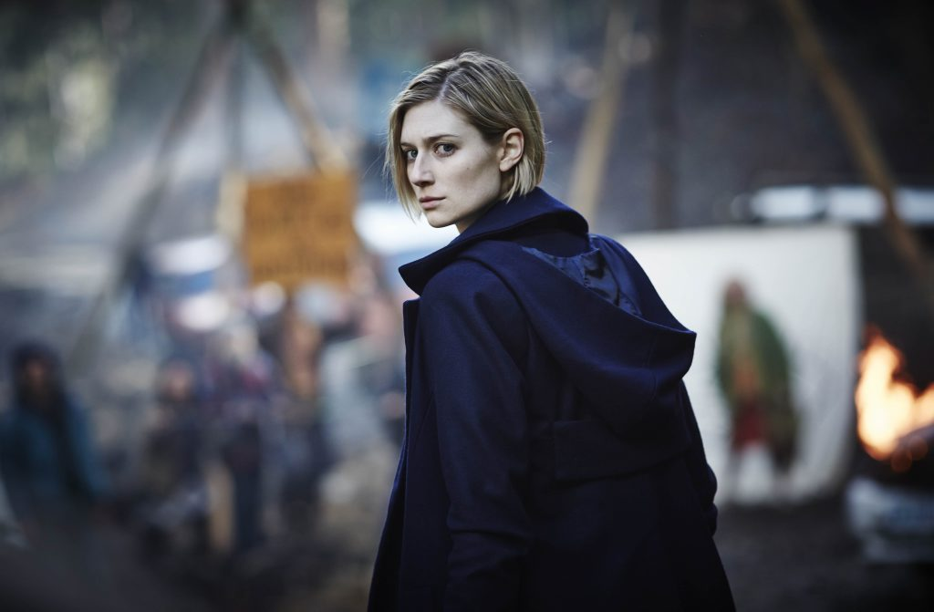 Elizabeth Debicki as Dr Anna Macy in a scene from the TV series The Kettering Incident. Supplied by Foxtel.