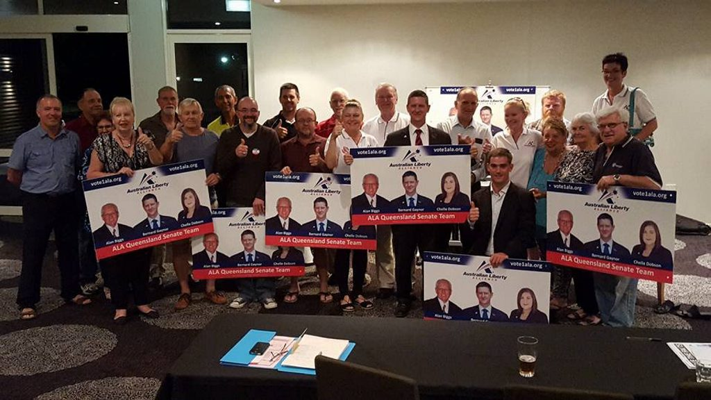 Mackay's Australian Liberty Alliance election team - posted on Bernard Gaynor's Facebook page on May 31, 2016