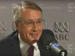 Wayne Swan smashes a glass