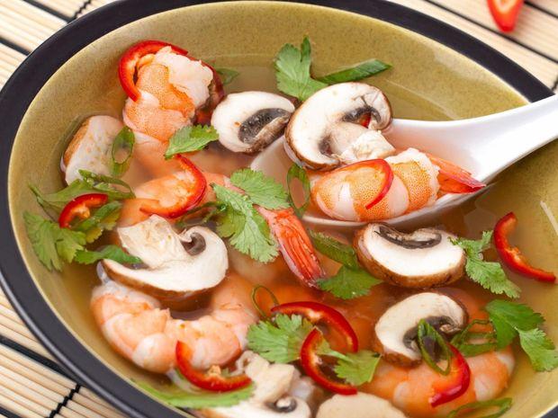 Tom Yum originated in Thailand and Laos.