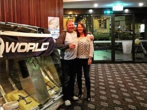 Gladstone couple win fishing boat worth thousands in hotel raffle