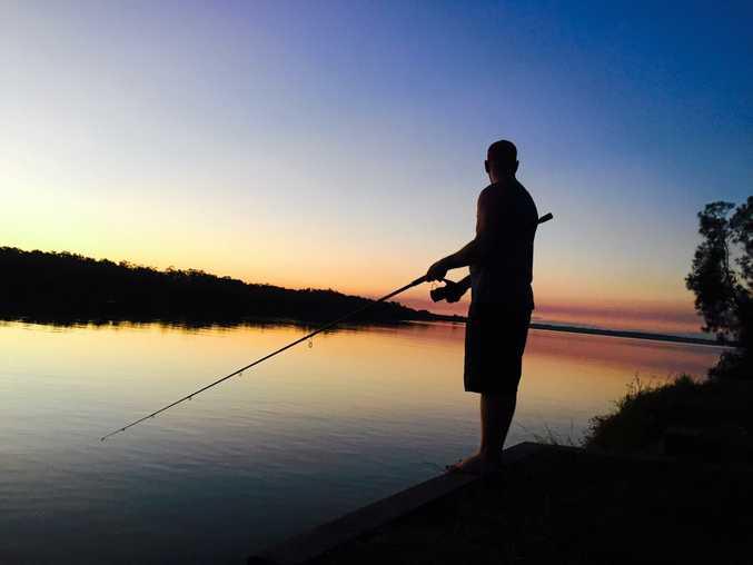 Skye Matthaei took this stunning shot of local fisherman Brett McMeekin during a dusk fish at Palmers Island, near Yamba.