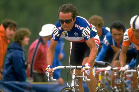 Bernard Hinault of France in action in 1986.