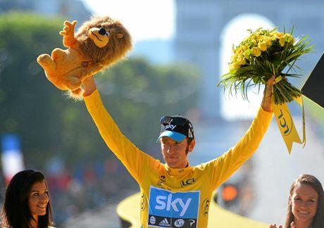 Bradley Wiggins, winner of the 2012 Tour de France cycling race.
