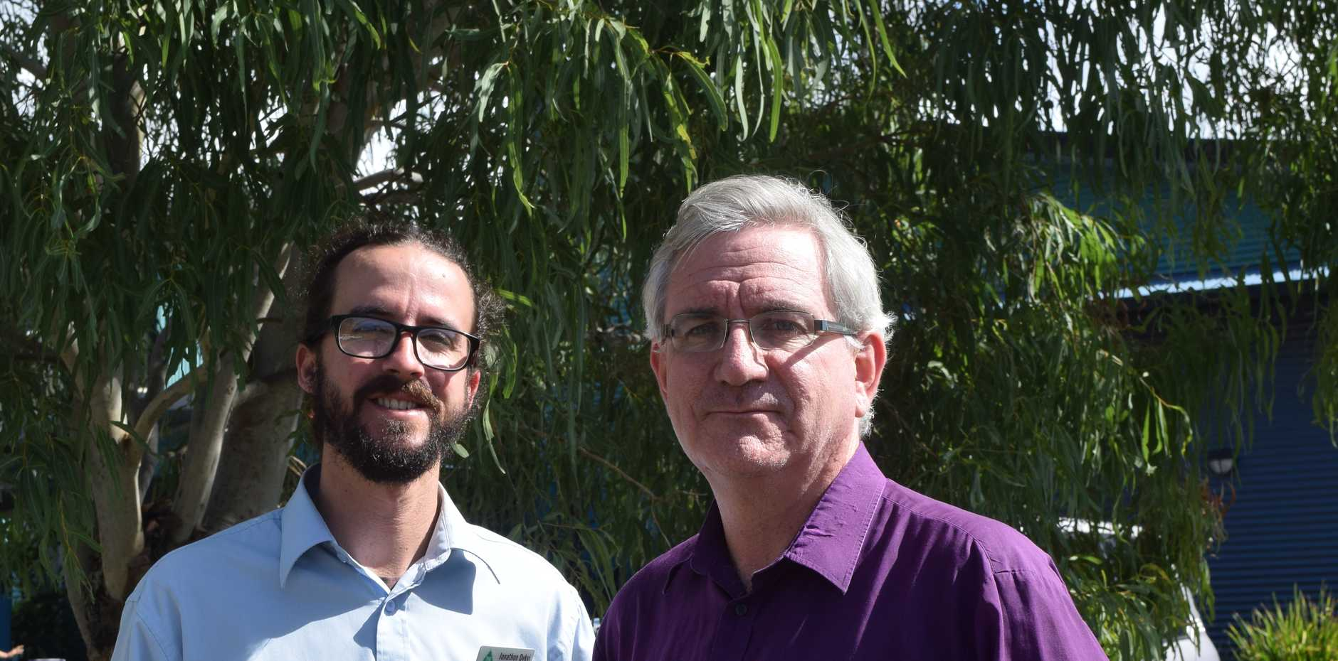 GREENS Senate candidate Andrew Bartlett stopped into Airlie Beach and met with Dawson Greens candidate Jonathon Dykyj at the early polling booths.