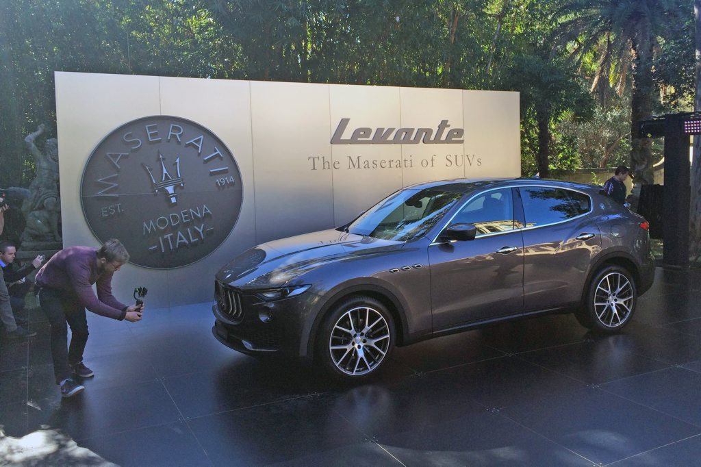 Sydney reveal of Maserati's new Levante SUV. Photo: Iain Curry / Sunshine Coast Daily