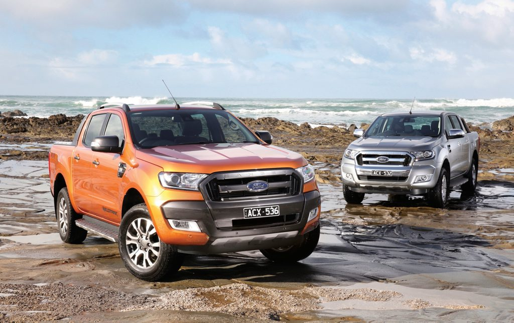 TOYOTA CHASING: New tech across the Ford Ranger lineup will arrive with the 2017 model year as Ford's 4x4 ute goes hunting HiLux.