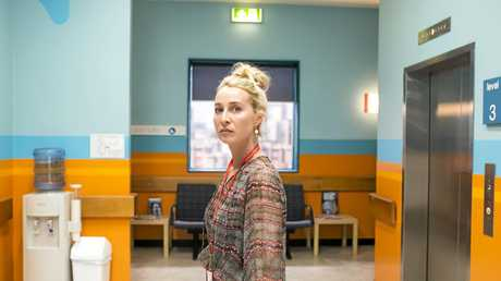 Asher Keddie in a scene from season six of the TV series Offspring. Supplied by Channel 10.