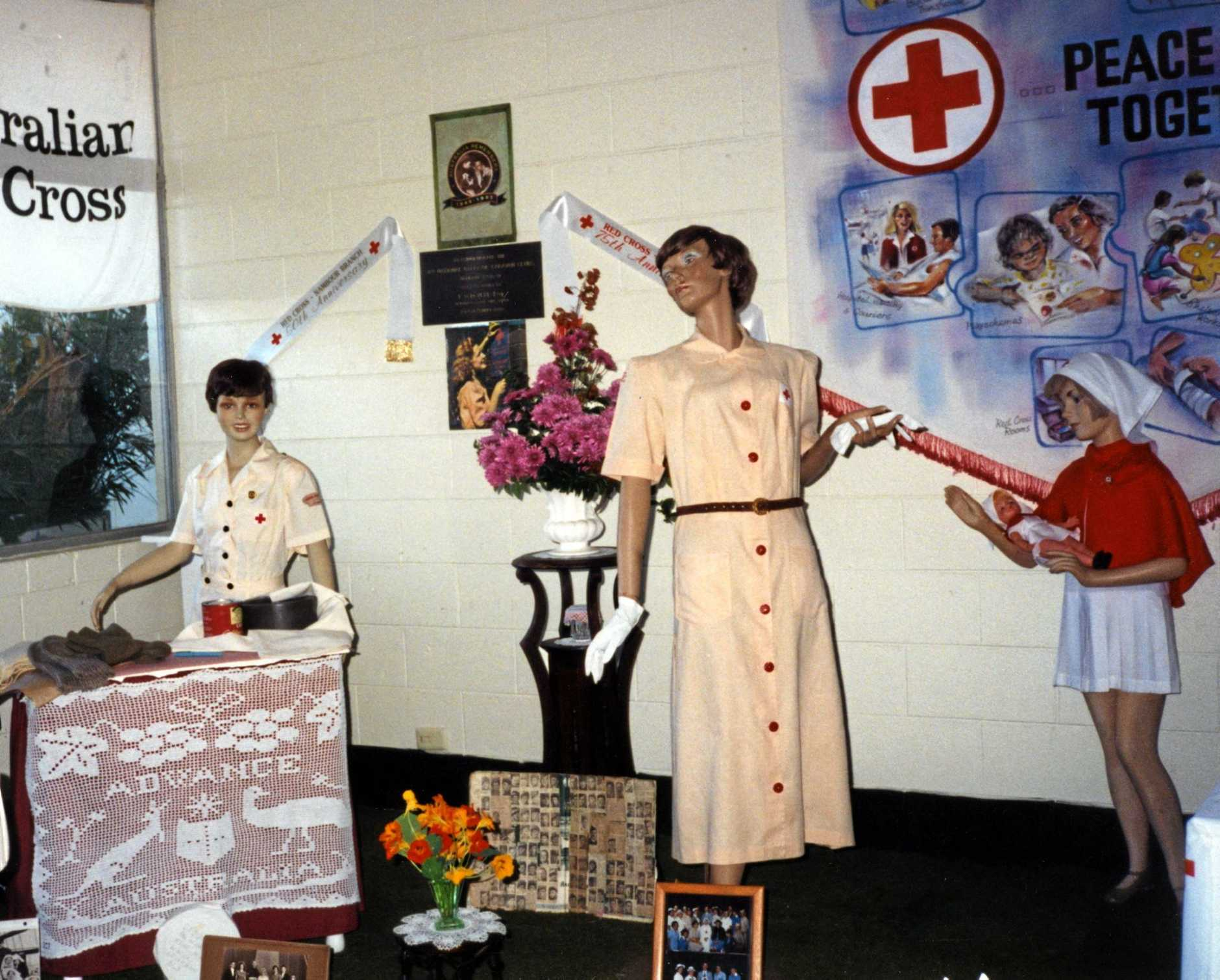 Red Cross display at the annual Chelsea Flower Show, Nambour, ca 1999
