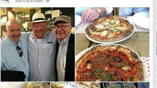A public post on Jim Berardo's Facebook page shows Mr Berardo and friends enjoying Mercato Centrale in Florence, Tuscany.