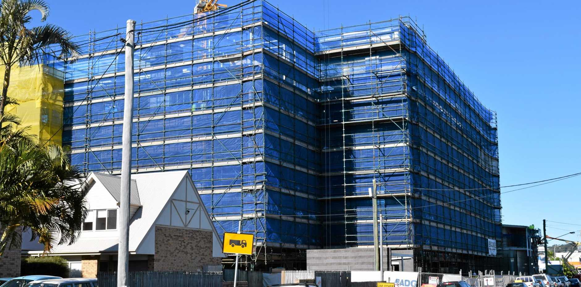 A 6-storey aged care facility is being built on Baden Powell St in Maroochydore. The building, along with a new church and other facilities on adjacent Church St, is due for completion by Christmas.