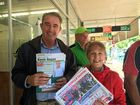 WATCH: Political spruikers play nice outside polling booths