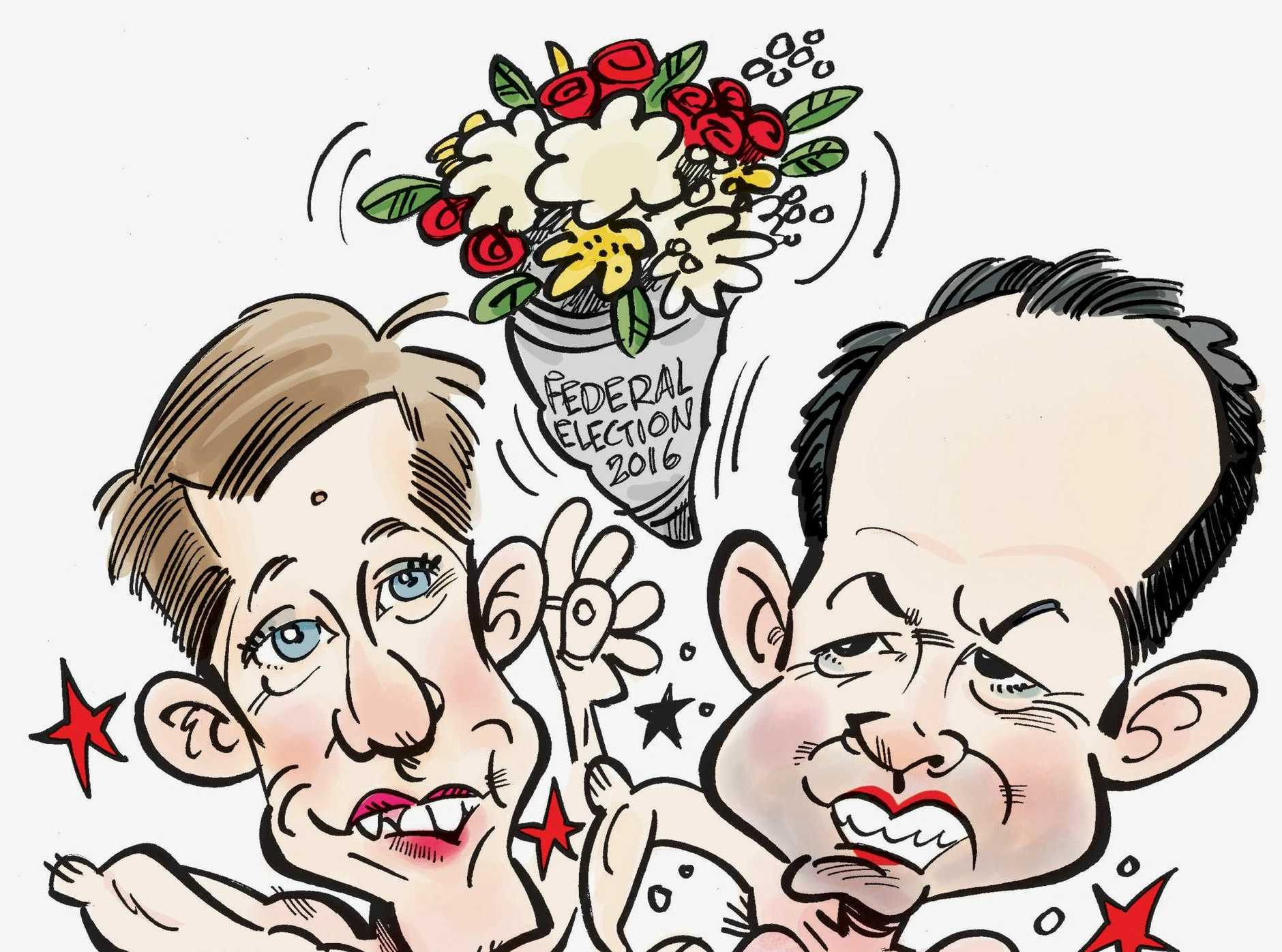 Fisher and Fairfax election cartoon.