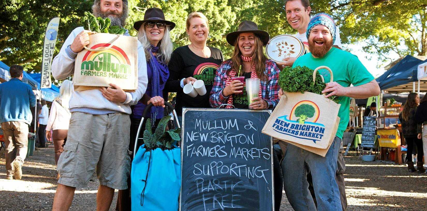 PLASTIC FREE: Mullumbimby and New Brighton Farmers Markets are embracing reusable bags, cups, plates and containers as part of Plastic Free July.
