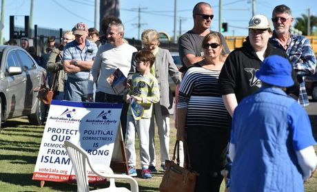 ELECTION DAY: Vvoters line-up at Hervey Bay High School to cast their votes in this years Federal Election.