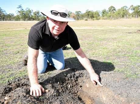 Bruce Gibbs can't play cricket at Liz Cunningham Park until the pitch is ripped up and fixed again.
