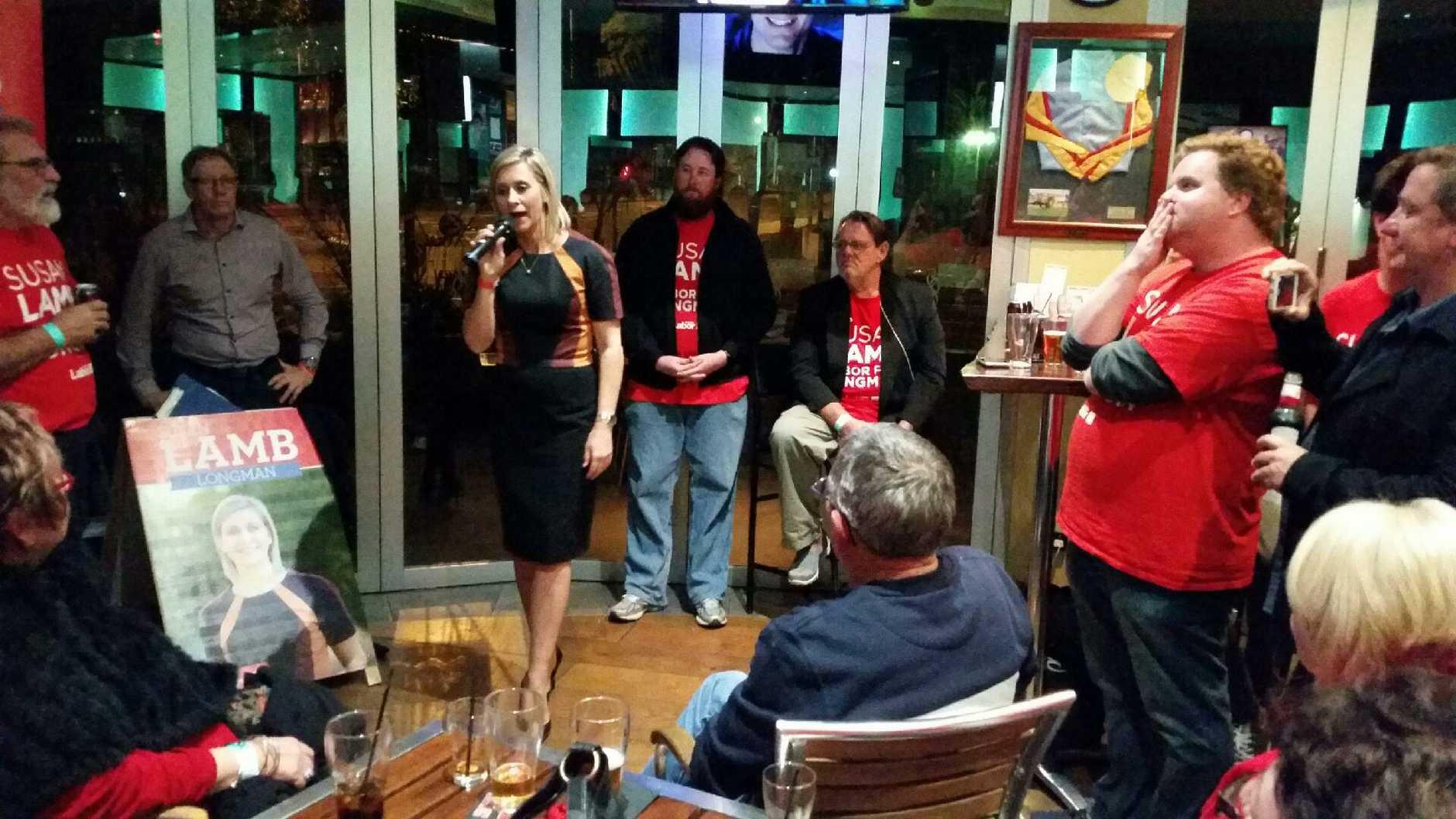 Susan Lamb claims victory in Longman
