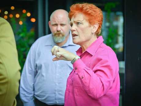 Pauline Hansen in Gladstone June 24, 2016.Lower house candidate for Flynn, Phill Baker and Pauline Hansen.Photo Mike Richards / The Observer