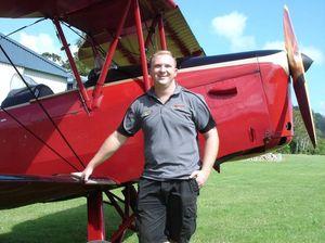 Tiger Moth pilot hailed a hero