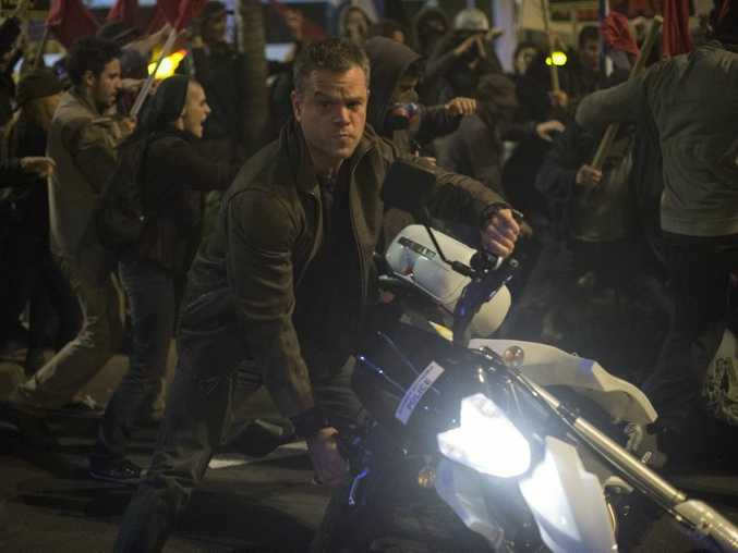 Matt Damon in a scene from the movie Jason Bourne.