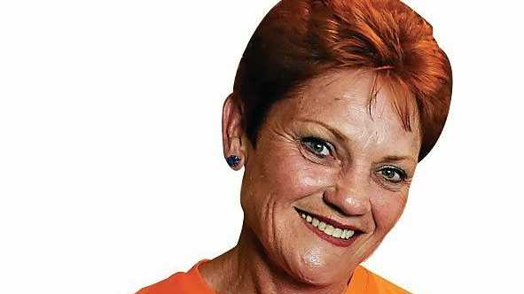 One Nation's Pauline Hanson poses for a photo with Malcolm Roberts, number two on her senate ticket, during her election-night function in Ipswich, west of Brisbane, Saturday, July 2, 2016. Ms Hanson last held office as the federal member for Oxley in 1998. (AAP Image/Dan Peled) NO ARCHIVING