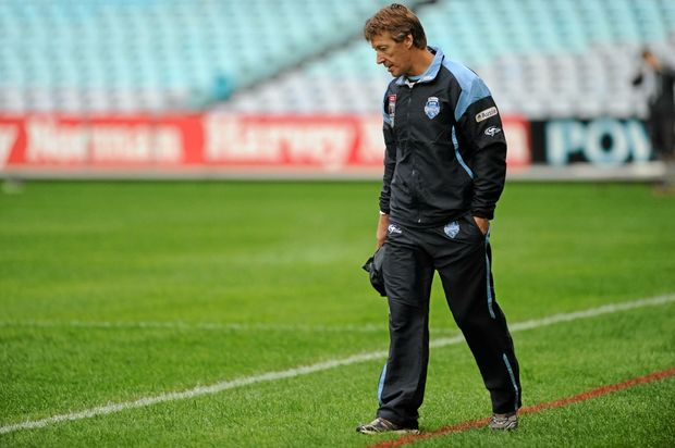 Craig Bellamy during his brief stint at New South Wales coach in 2010.