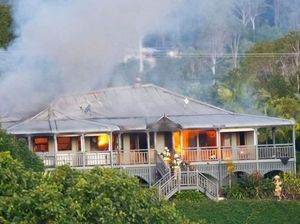 WATCH: Two-storey Queenslander home destroyed in blaze