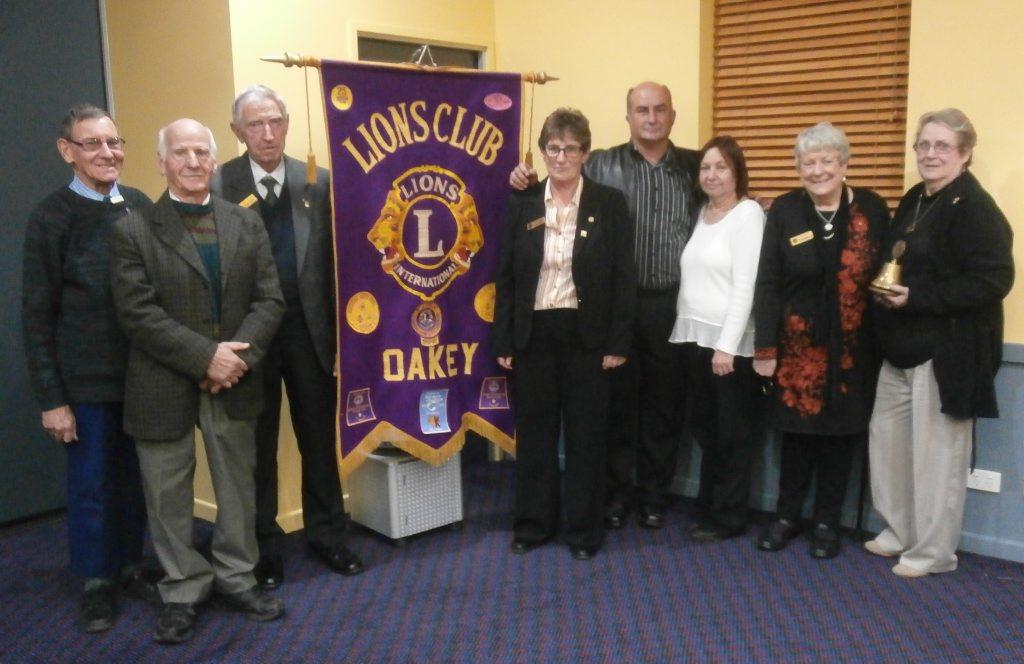Lions Club of Oakey 2016-2017 Committee (from left) Barry Bawden, George Florentzos, Kevin O'Neil, Gail Jones, Chris O'Keeffe, Donna O'Keeffe, Helen Bawden OAM and Pamela Chamberlain.