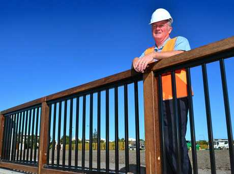 Owner of Fencescape Tim Murray with one of his creations at Wurtulla.  Photo: John McCutcheon / Sunshine Coast Daily