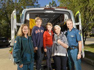 Hero kids help save mum's life