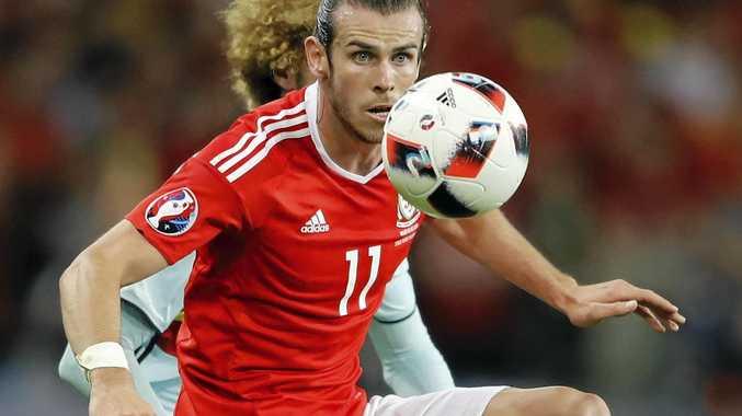 KEY MAN: Wales' Gareth Bale controls a ball during the Euro 2016 quarter-final against Belgium.