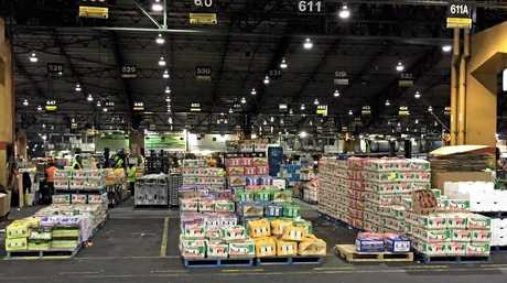 FRESH HELL: The Melbourne Produce Markets. Mr B Fresh potatoes are visible on the right.