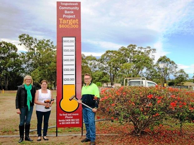 SUPPORT: Toogoolawah Locals get behind the Bendigo Bank community project.