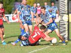 OVER THE LINE: Joshua Garden scores a try for Western Suburbs at Salters Oval Bundaberg.