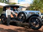 METICULOUS JOB: Robert and Meryl Lovell of East Lismore with their beautifully restored 1925 Vauxhall 2360.