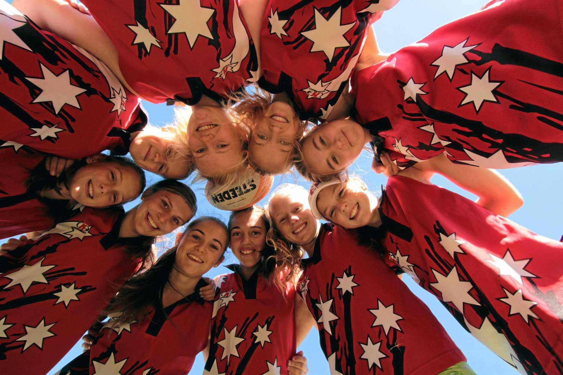 Touch Football Carnival-  Under 14 girls. Photo: Robyne Cuerel / Fraser Coast Chronicle