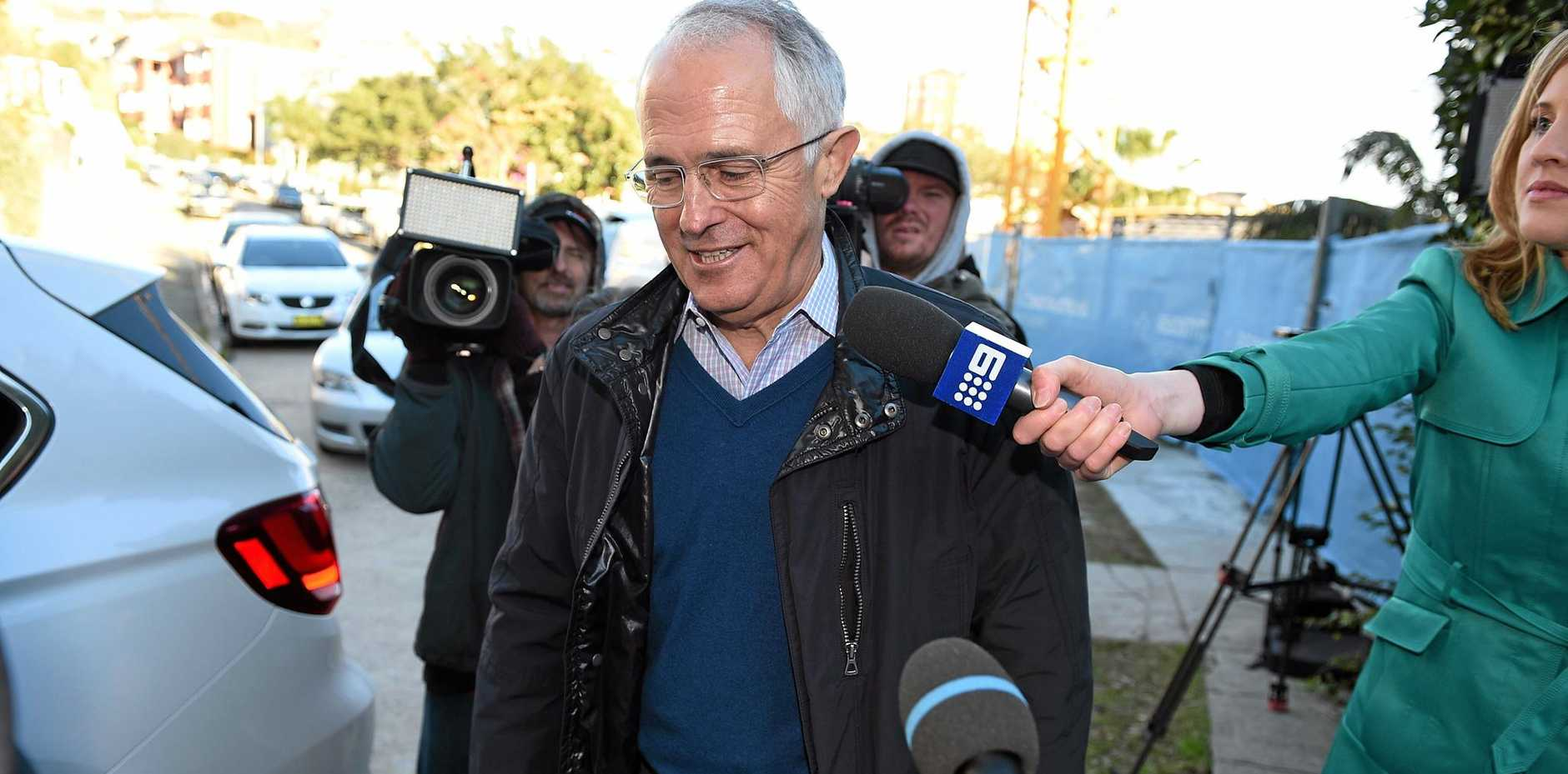 UNDER PRESSURE: Prime Minister Malcolm Turnbull is under fire as the nation faces the possibility of a hung parliament.