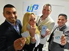 Life Global, the company has developed a chip which attaches to your mobile phone to stop/reduce radiation going into your head. From left is Director Don Small, Head of Marketing Jacqui Chapple, Director Gus Olsen and Head of Sales Dan Rodrigues.