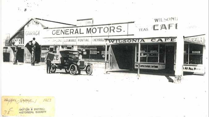 PAST: Wilsons Garage in Gatton, 1927.